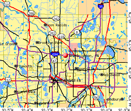 New Brighton, MN map