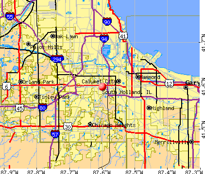 South Holland, IL map
