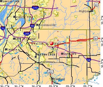 O'Fallon, IL map