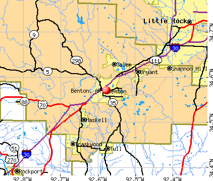 Benton, AR map