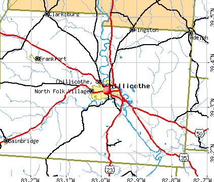 Chillicothe, OH map