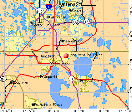 Yeehaw Junction, FL map
