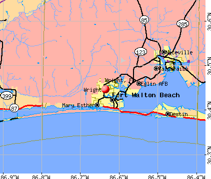 Wright, FL map