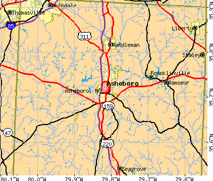 Asheboro, NC map