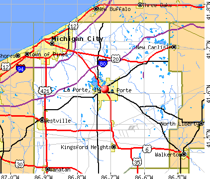 La Porte Indiana In 46350 Profile Population Maps Real Estate