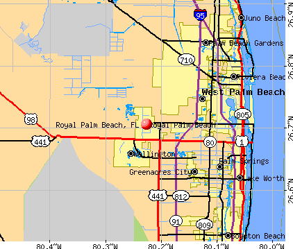 Royal Palm Beach, FL map
