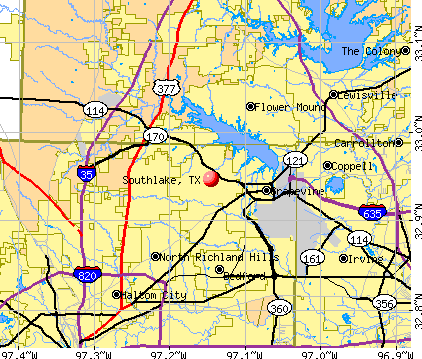 Southlake, TX map