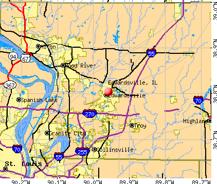Edwardsville, IL map