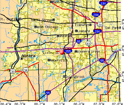Lisle, IL map