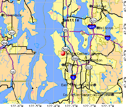 White Center, WA map