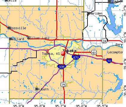 Topeka, KS map