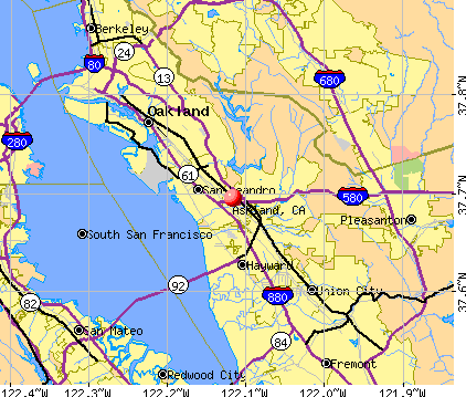 Ashland, CA map