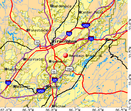 Mountain Brook, AL map