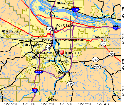 Milwaukie, OR map