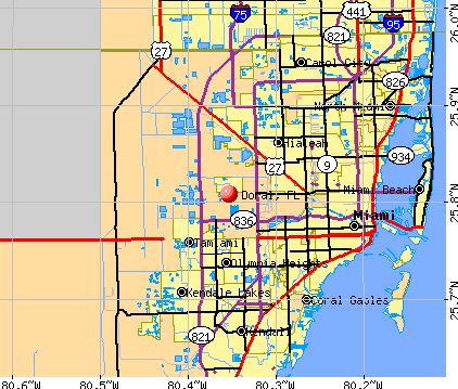 Doral, FL map