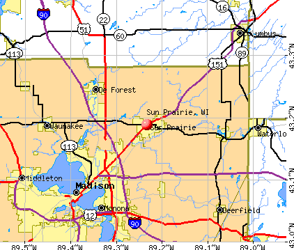 Sun Prairie, WI map