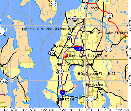 Mountlake Terrace, WA map
