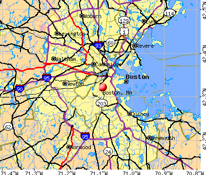 Boston, MA map