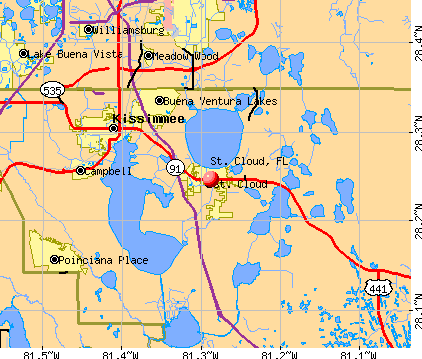St. Cloud, FL map