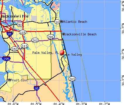 Palm Valley, FL map