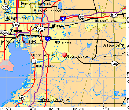 Bloomingdale, FL map