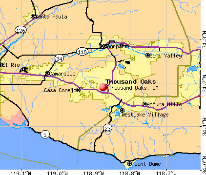 Thousand Oaks, CA map