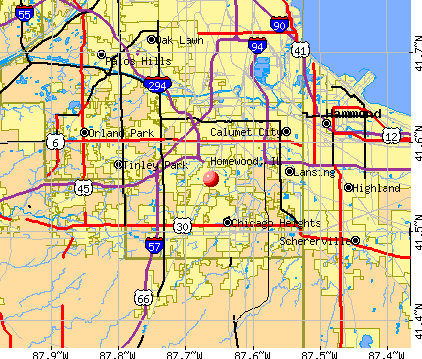 Homewood, IL map
