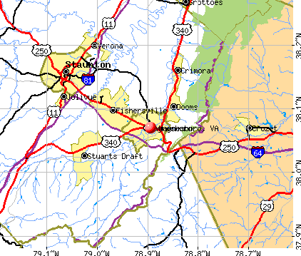 Waynesboro, VA map