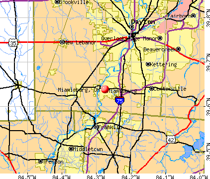 Miamisburg, OH map