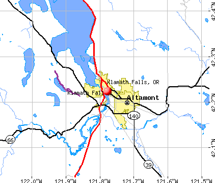Klamath Falls, OR map