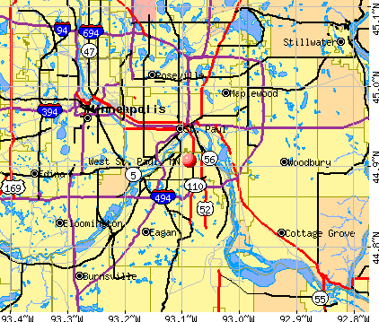 West St. Paul, MN map