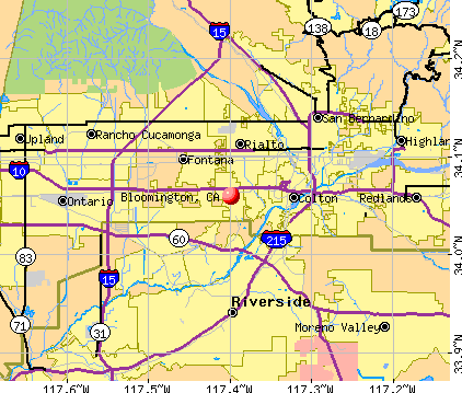 Bloomington, CA map