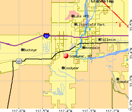 Goodyear, AZ map