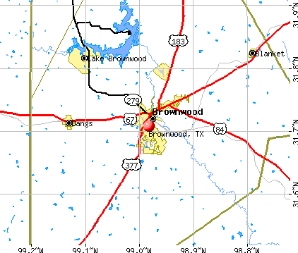 Brownwood, TX map