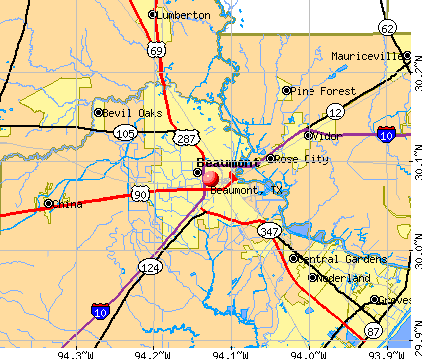 Beaumont, TX map