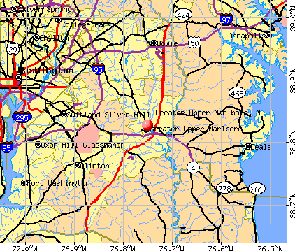 Greater Upper Marlboro, MD map