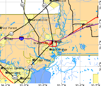 Orange, TX map