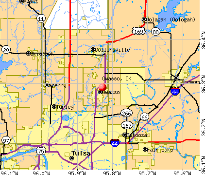 Owasso, OK map