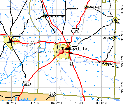 Thomasville, GA map