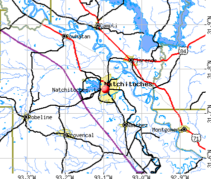 Natchitoches, LA map