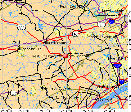 West Chester, PA map