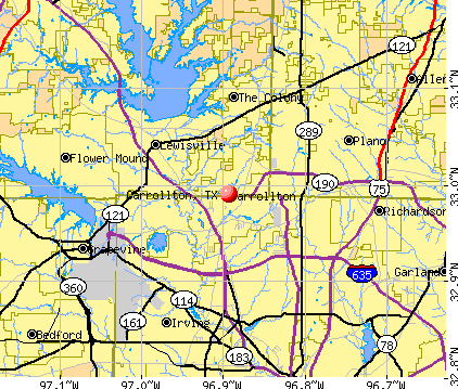 Carrollton, TX map
