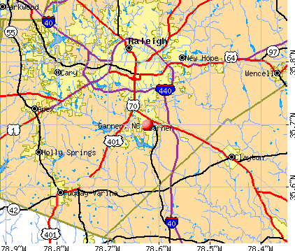Garner, NC map