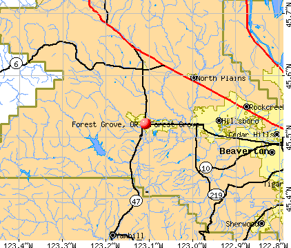 Forest Grove, OR map