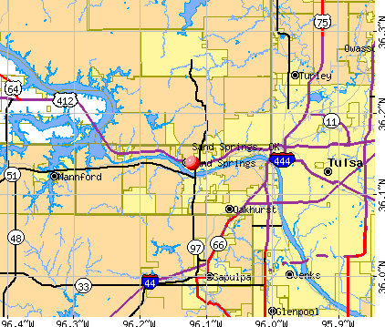 Sand Springs, OK map