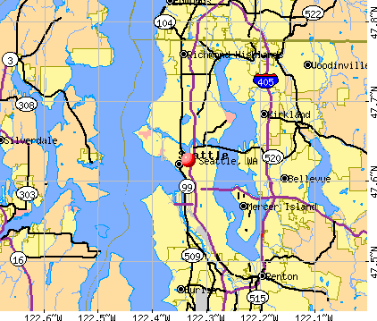 Seattle, WA map