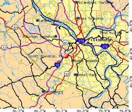 Scott Township, PA map