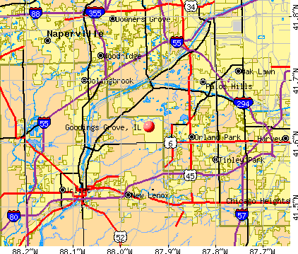 Goodings Grove, IL map