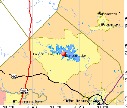 Canyon Lake, TX map
