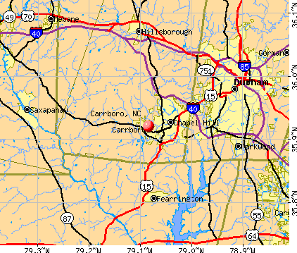 Carrboro, NC map